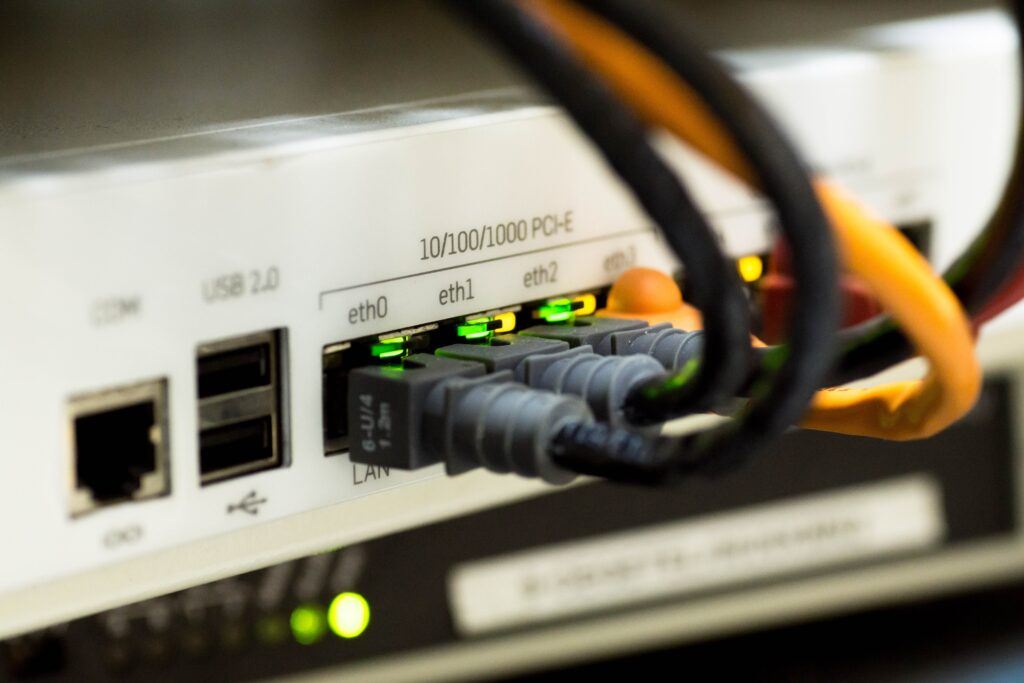 connected ethernet cables